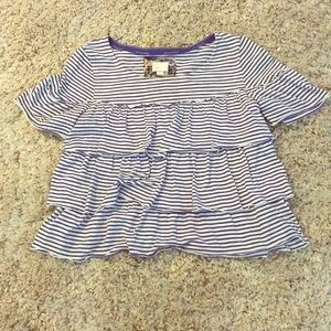 Anthropologie Tops - Anthropologie Tiered Ruffle Tee
